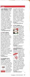 A vos marques, Stratégies, 23 janvier 2014